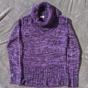 Lei purple/black sequins sweater